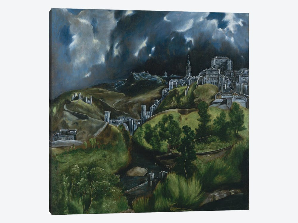 View Of Toledo, c.1597-99 by El Greco 1-piece Canvas Artwork