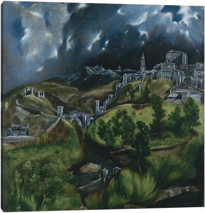 View Of Toledo, c.1597-99 Canvas Art Print