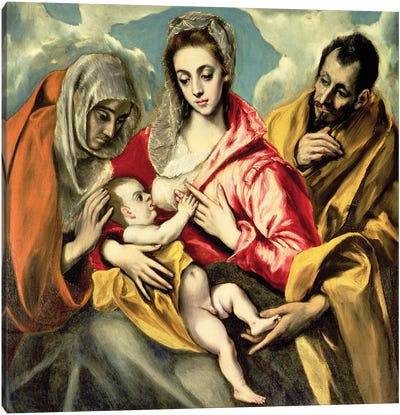 Virgin And Child With St. Anne And St. Joseph, 1587-96 (Hospital de Tavera) Canvas Print #BMN6272