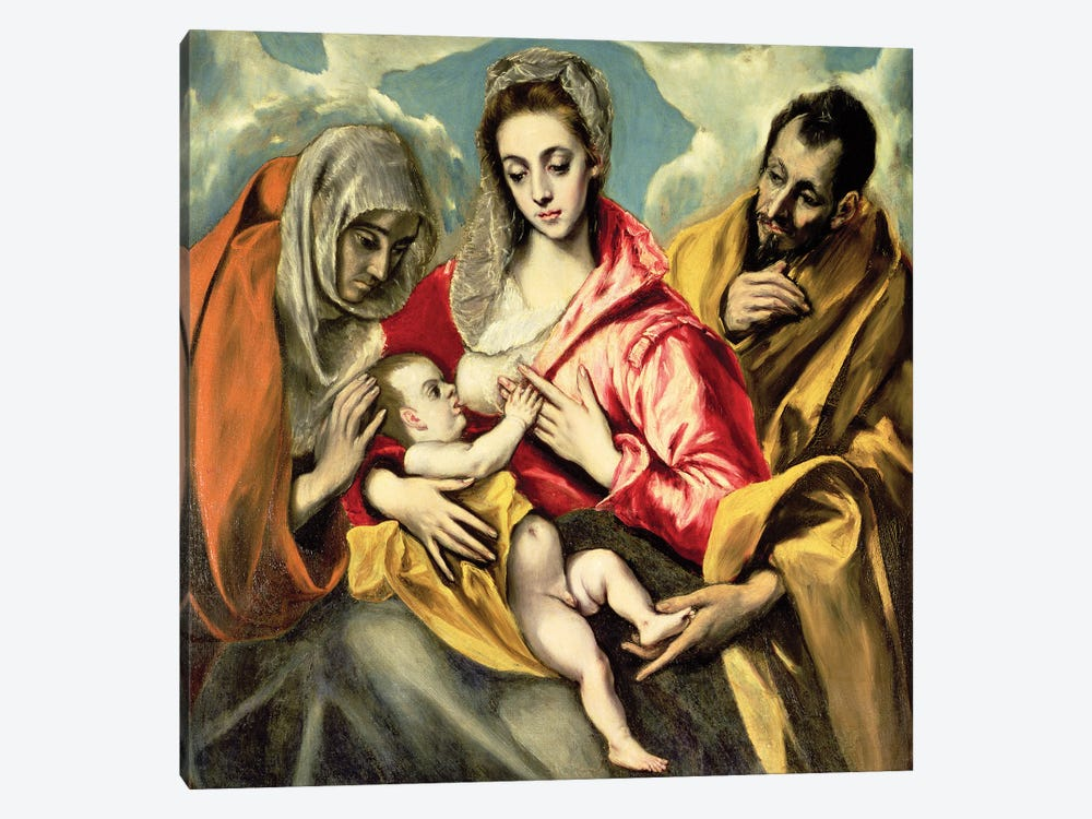 Virgin And Child With St. Anne And St. Joseph, 1587-96 (Hospital de Tavera) by El Greco 1-piece Art Print