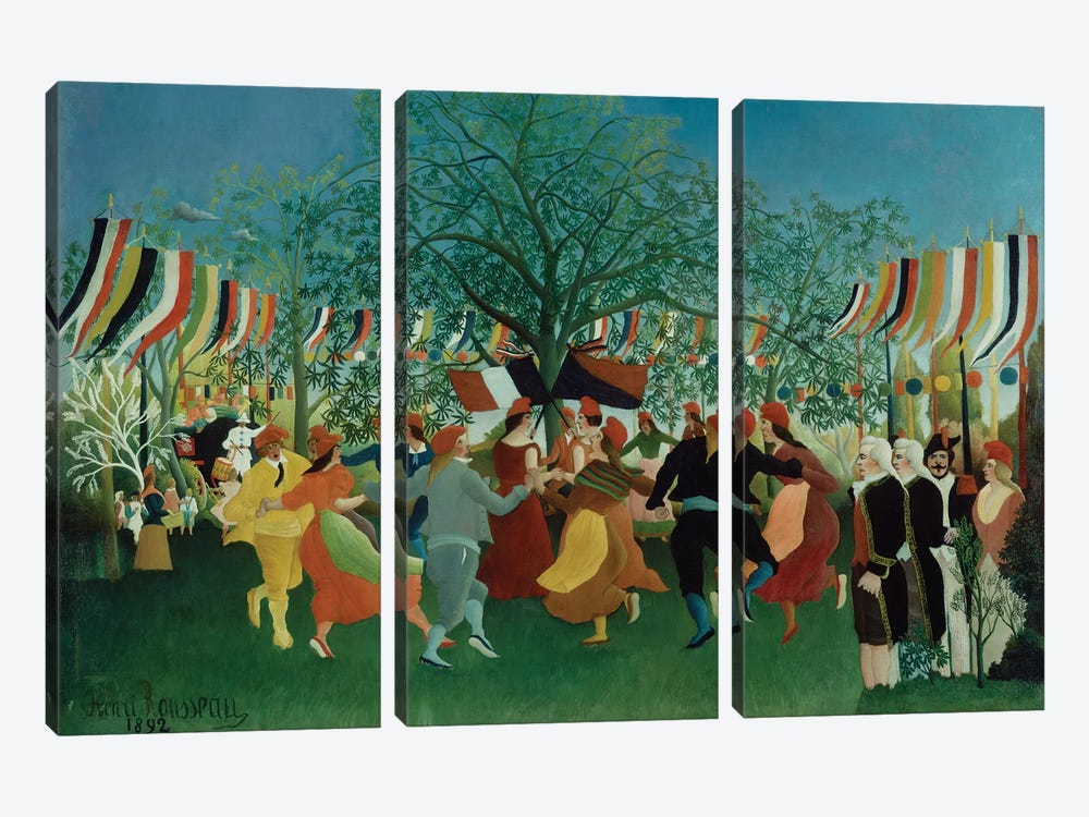 A Centennial Of Independence, 1892 by Henri Rousseau 3-piece Canvas Artwork