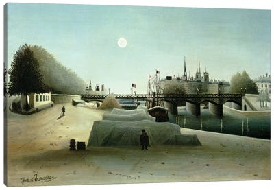 A View Of the Ile Saint-Louis From Port Saint-Nicolas, Evening, c.1888 Canvas Art Print
