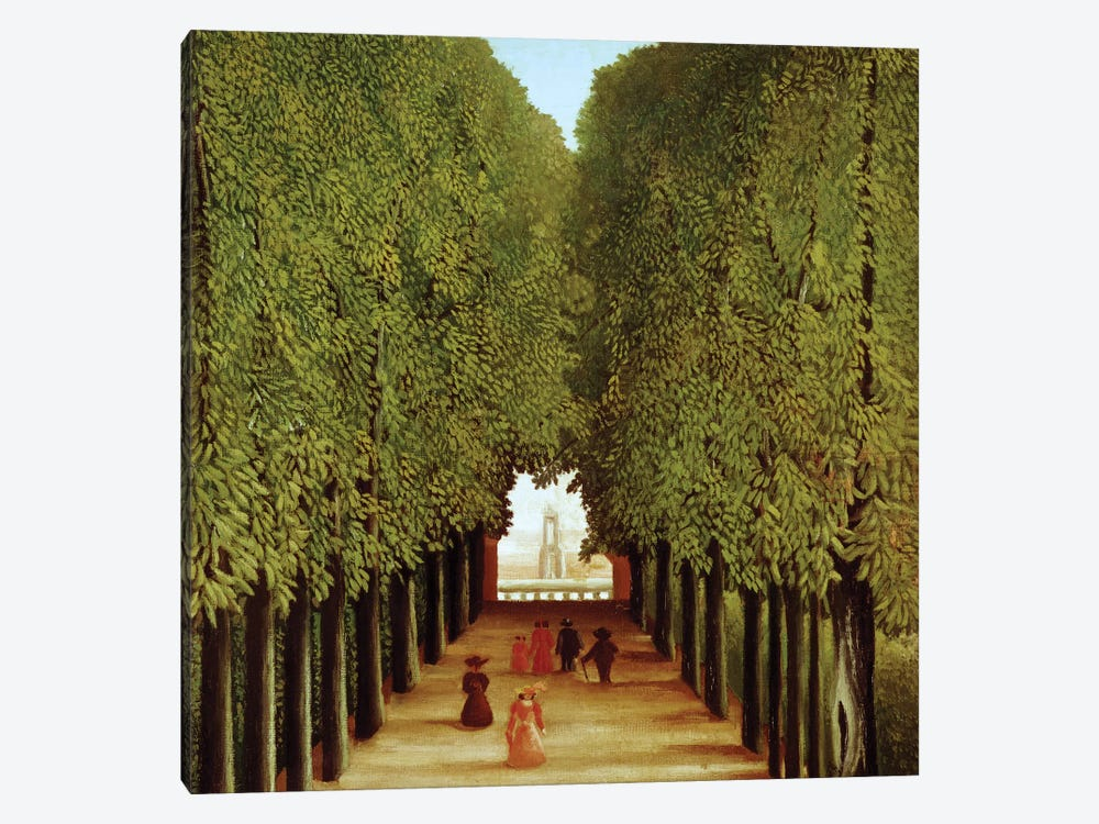 Alleyway In The Park Of Saint-Cloud, 1908 by Henri Rousseau 1-piece Canvas Wall Art