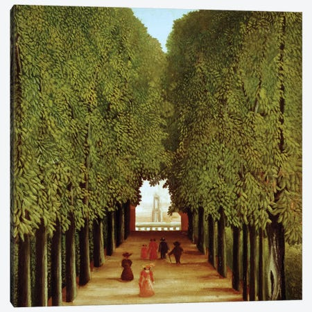 Alleyway In The Park Of Saint-Cloud, 1908 Canvas Print #BMN6275} by Henri Rousseau Art Print