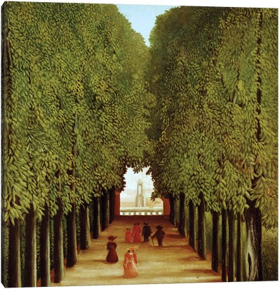 Alleyway In The Park Of Saint-Cloud, 1908 Canvas Art Print