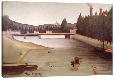 Bathing At Alfortville Canvas Art Print