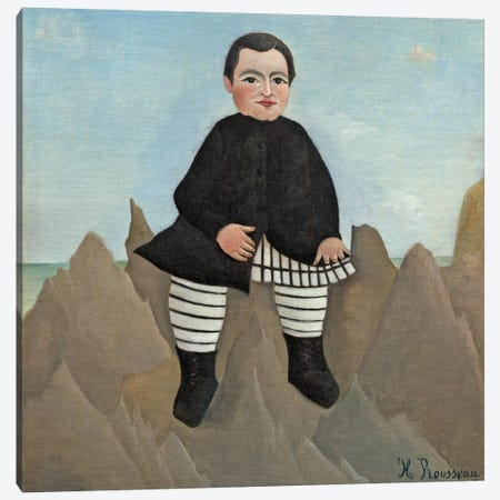 Boy On The Rocks, 1895-97 3-Piece Canvas #BMN6279} by Henri Rousseau Canvas Art