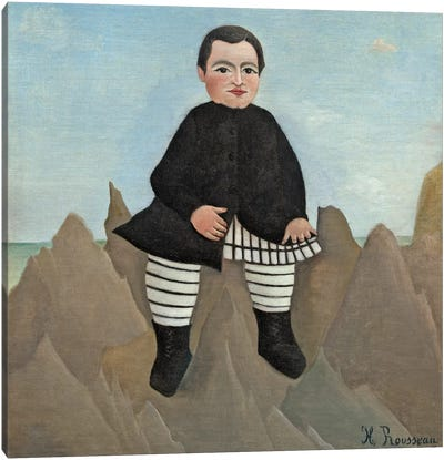Boy On The Rocks, 1895-97 Canvas Art Print