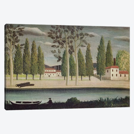 By The River, c.1890 Canvas Print #BMN6280} by Henri Rousseau Art Print