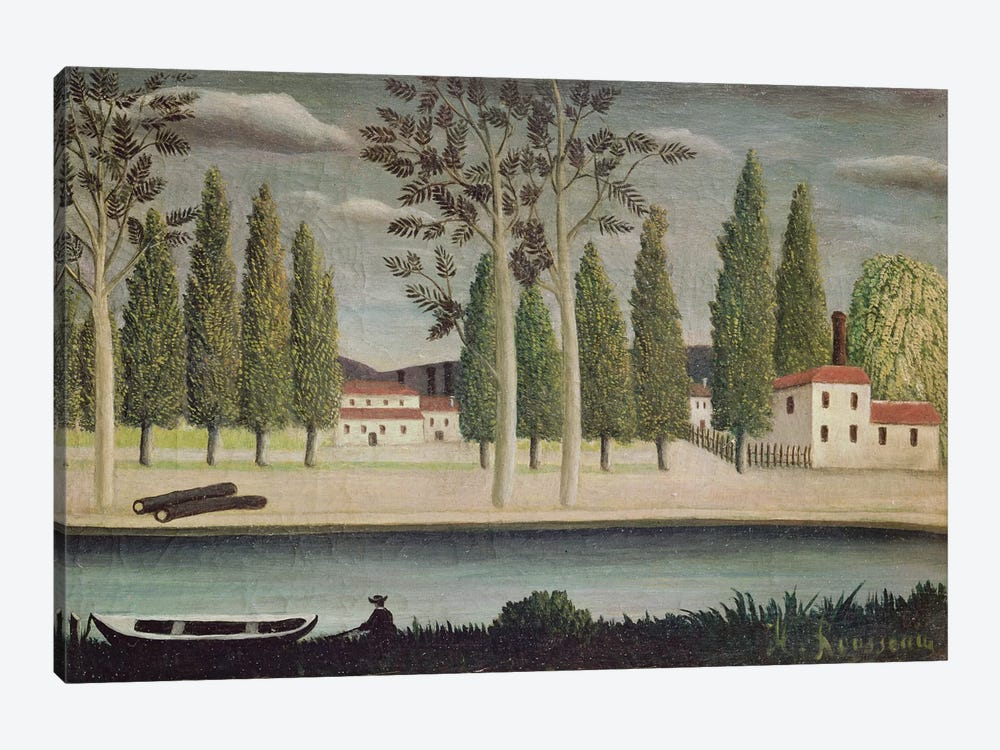 By The River, c.1890 by Henri Rousseau 1-piece Canvas Wall Art