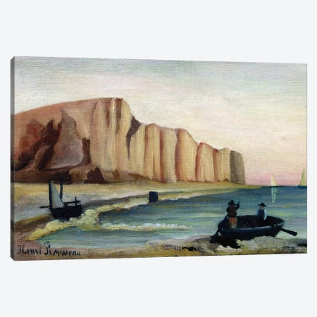 Cliffs, c.1897 3-Piece Canvas #BMN6281} by Henri Rousseau Canvas Print
