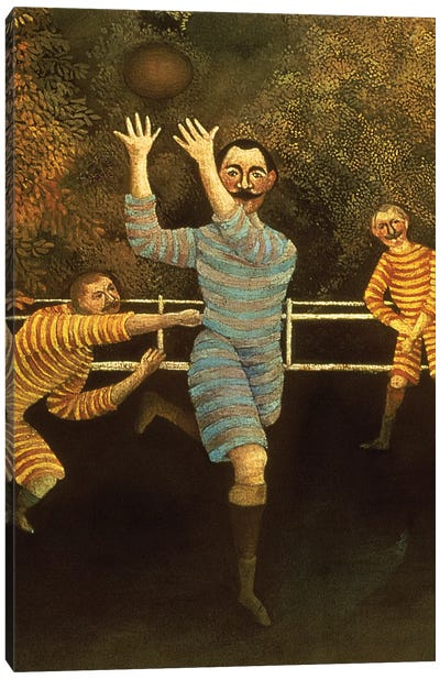 Detail Of Receiver, The Football Players, 1908 Canvas Print #BMN6282