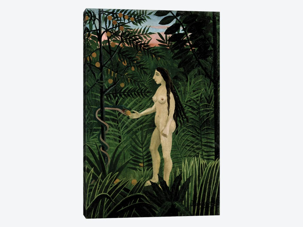 Eve, c.1906-07 by Henri Rousseau 1-piece Canvas Art Print