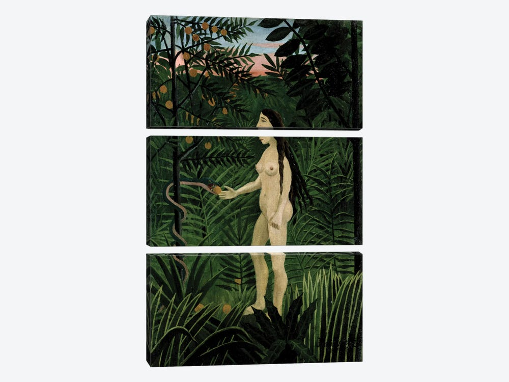 Eve, c.1906-07 by Henri Rousseau 3-piece Art Print