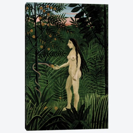 Eve, c.1906-07 Canvas Print #BMN6283} by Henri Rousseau Canvas Art Print