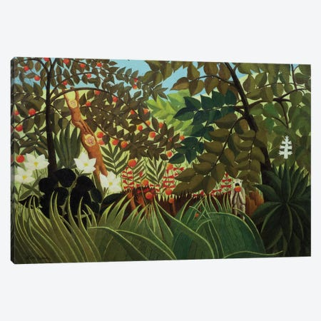 Exotic Landscape (Suzuki Collection) Canvas Print #BMN6284} by Henri Rousseau Canvas Wall Art