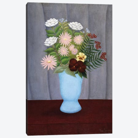 Fleurs de Jardin (Garden Flowers), c.1909-10 Canvas Print #BMN6285} by Henri Rousseau Canvas Art