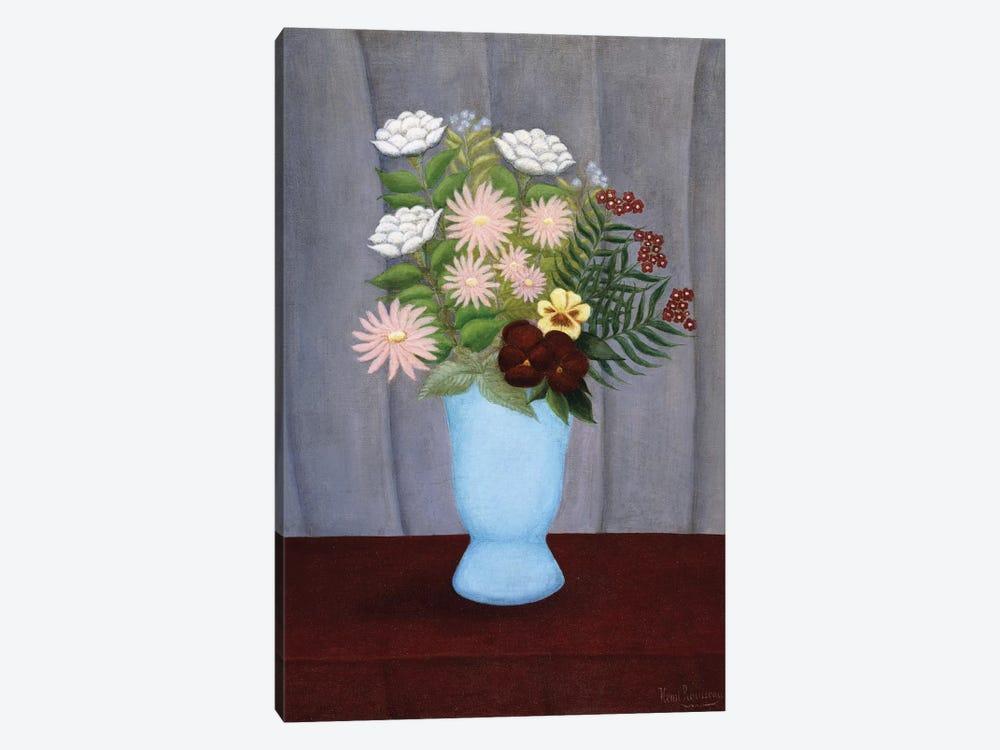 Fleurs de Jardin (Garden Flowers), c.1909-10 by Henri Rousseau 1-piece Canvas Art Print