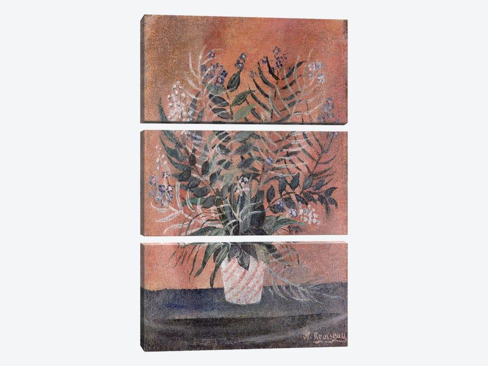 Flowers, c.1903 by Henri Rousseau 3-piece Canvas Art