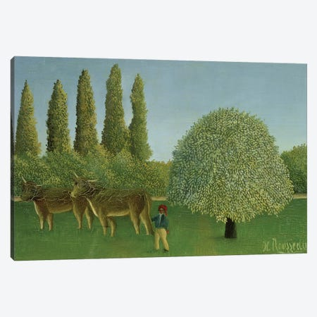 In The Fields, 1910 Canvas Print #BMN6287} by Henri Rousseau Canvas Art