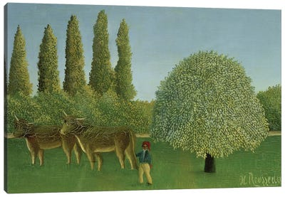 In The Fields, 1910 Canvas Print #BMN6287