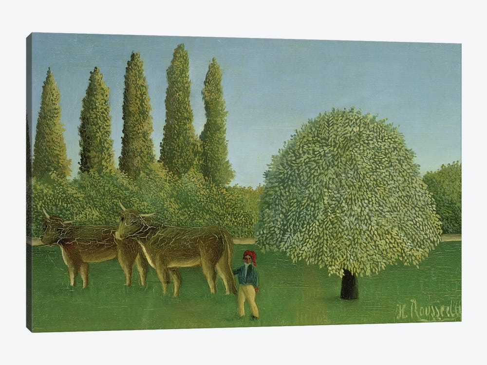 In The Fields, 1910 by Henri Rousseau 1-piece Art Print