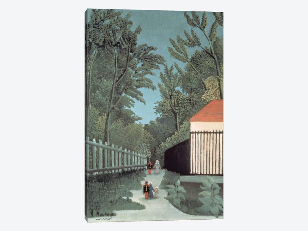 Landscape In Montsouris Park With Five Figures, 1910 by Henri Rousseau 1-piece Canvas Print