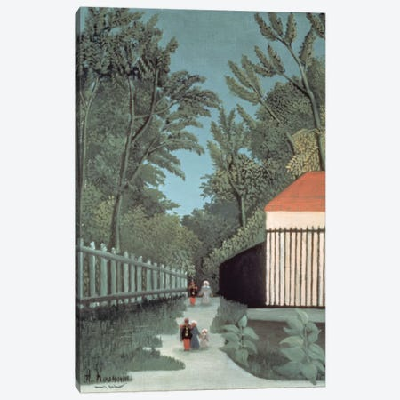 Landscape In Montsouris Park With Five Figures, 1910 Canvas Print #BMN6289} by Henri Rousseau Canvas Print