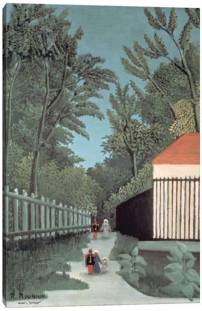 Landscape In Montsouris Park With Five Figures, 1910 Canvas Art Print