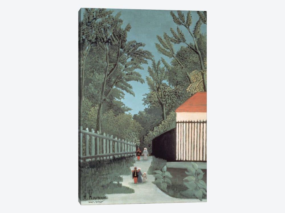 Landscape In Montsouris Park With Five Figures, 1910 by Henri Rousseau 1-piece Canvas Print