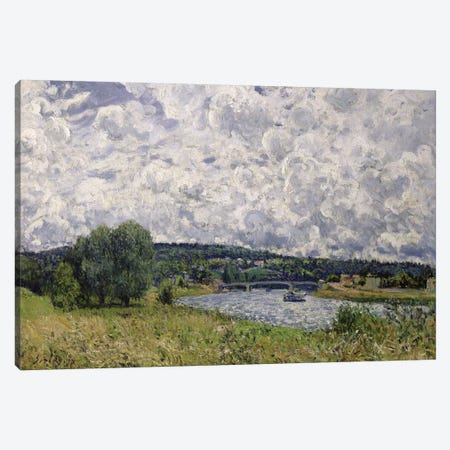 The Seine at Suresnes, 1877  Canvas Print #BMN628} by Alfred Sisley Canvas Wall Art