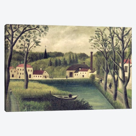 Landscape With A Fisherman, after 1886 Canvas Print #BMN6290} by Henri Rousseau Canvas Wall Art