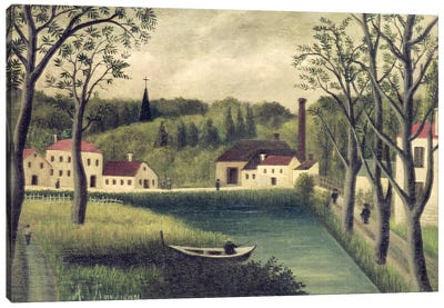 Landscape With A Fisherman, after 1886 Canvas Print #BMN6290