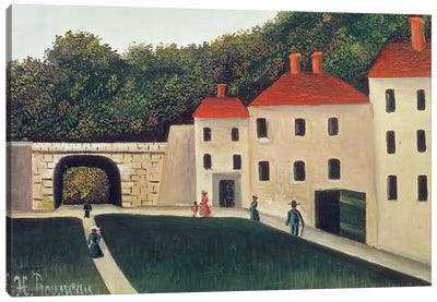 Landscape With An Arch And Three Houses, 1907 Canvas Art Print