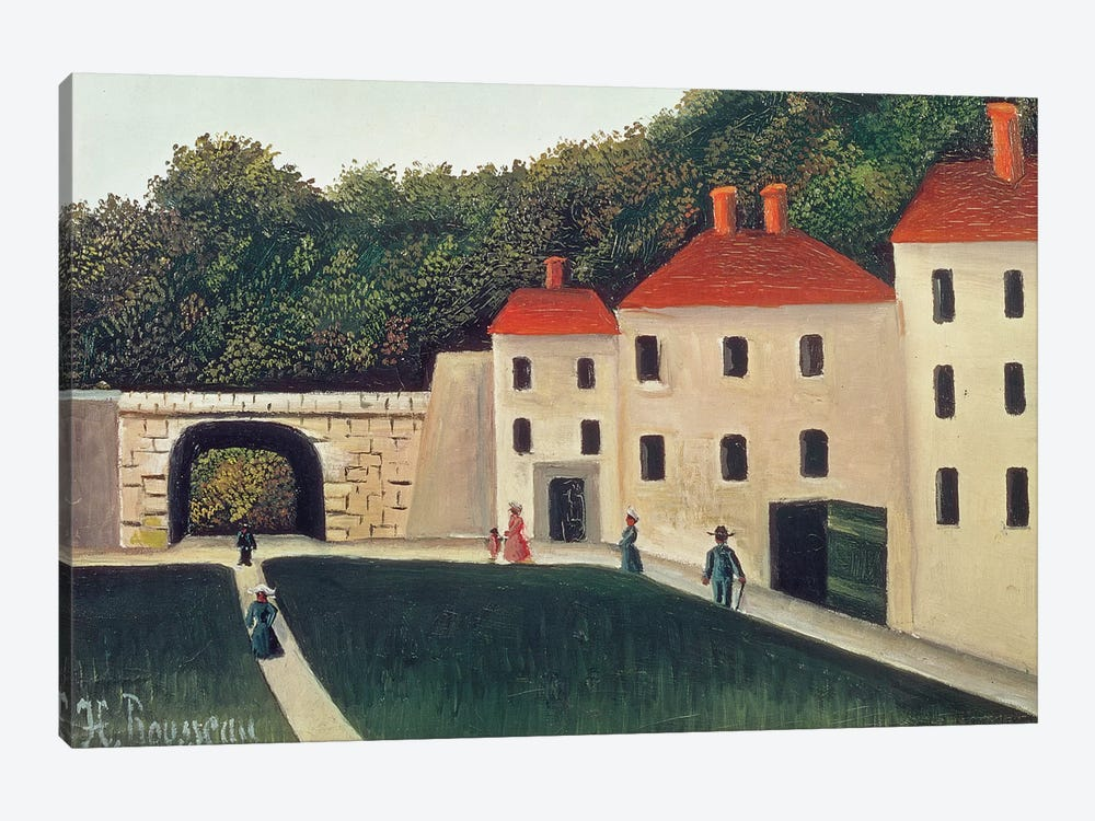 Landscape With An Arch And Three Houses, 1907 by Henri Rousseau 1-piece Canvas Art