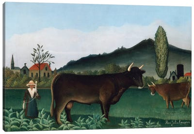 Landscape With Cow, 1886 Canvas Art Print