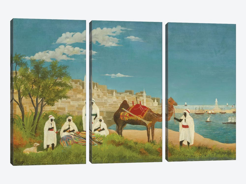 Landscape, Algiers, 1880 by Henri Rousseau 3-piece Canvas Art