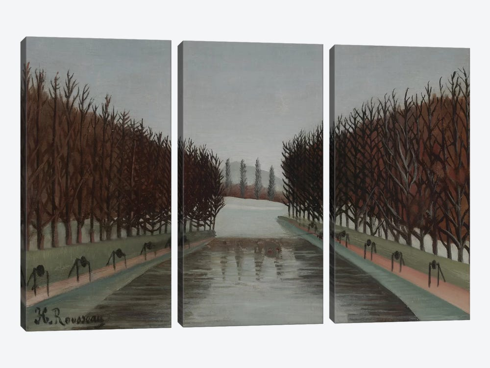 Le Canal, c.1905 by Henri Rousseau 3-piece Canvas Art Print