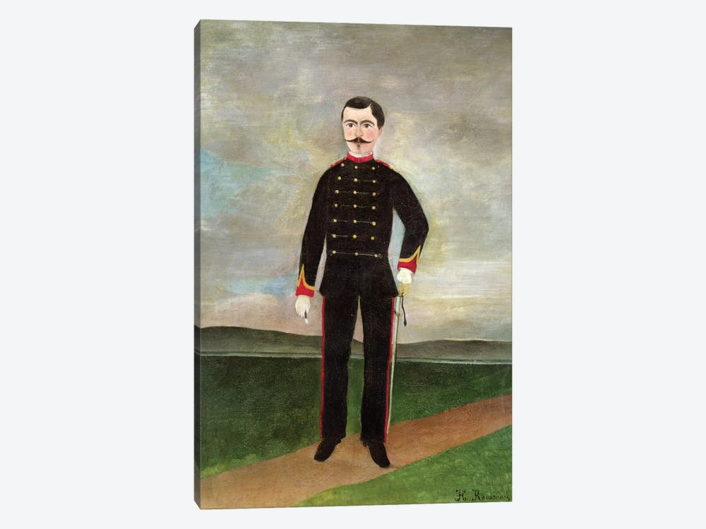 Marshal des Logis Frumence-Biche Of The 35th Artillery, c.1893 by Henri Rousseau 1-piece Canvas Art Print