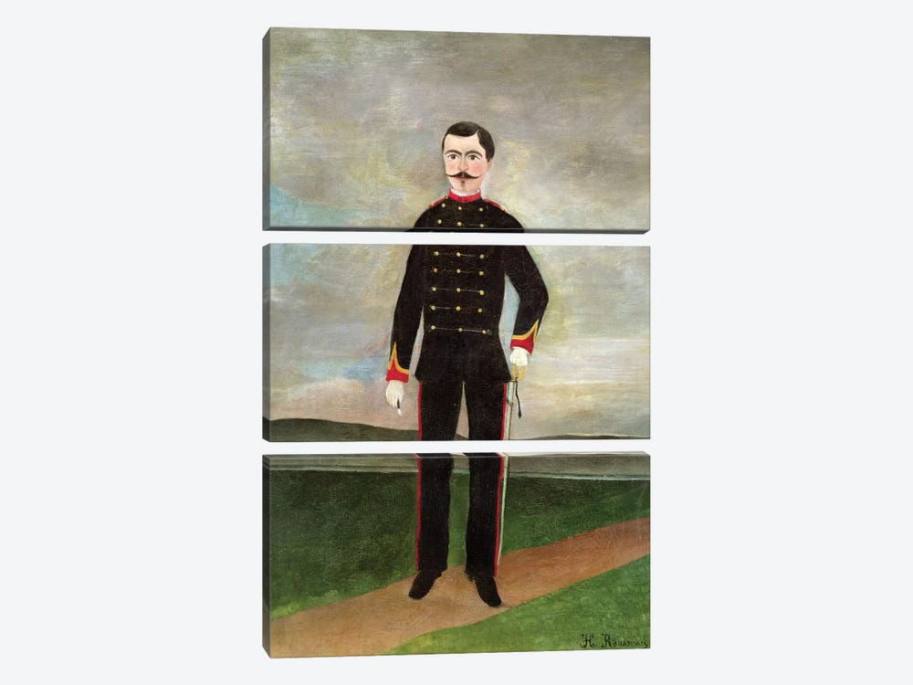 Marshal des Logis Frumence-Biche Of The 35th Artillery, c.1893 by Henri Rousseau 3-piece Art Print