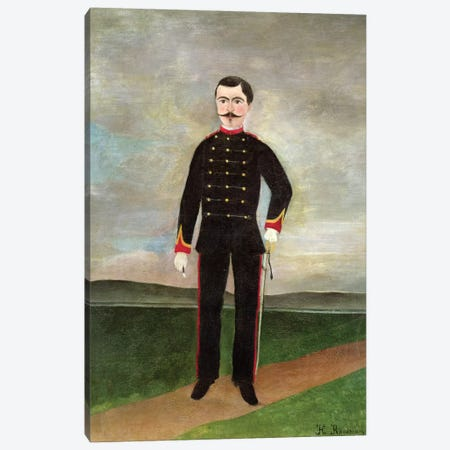 Marshal des Logis Frumence-Biche Of The 35th Artillery, c.1893 3-Piece Canvas #BMN6296} by Henri Rousseau Canvas Art Print