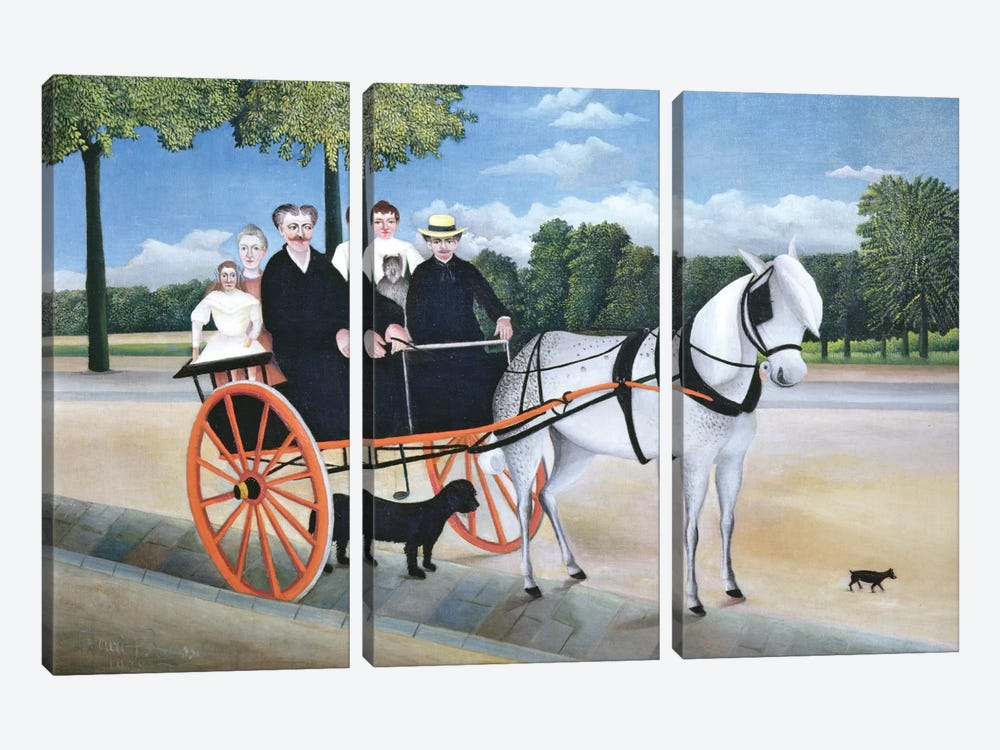 Old Man Junier's Trap, 1908 by Henri Rousseau 3-piece Canvas Artwork