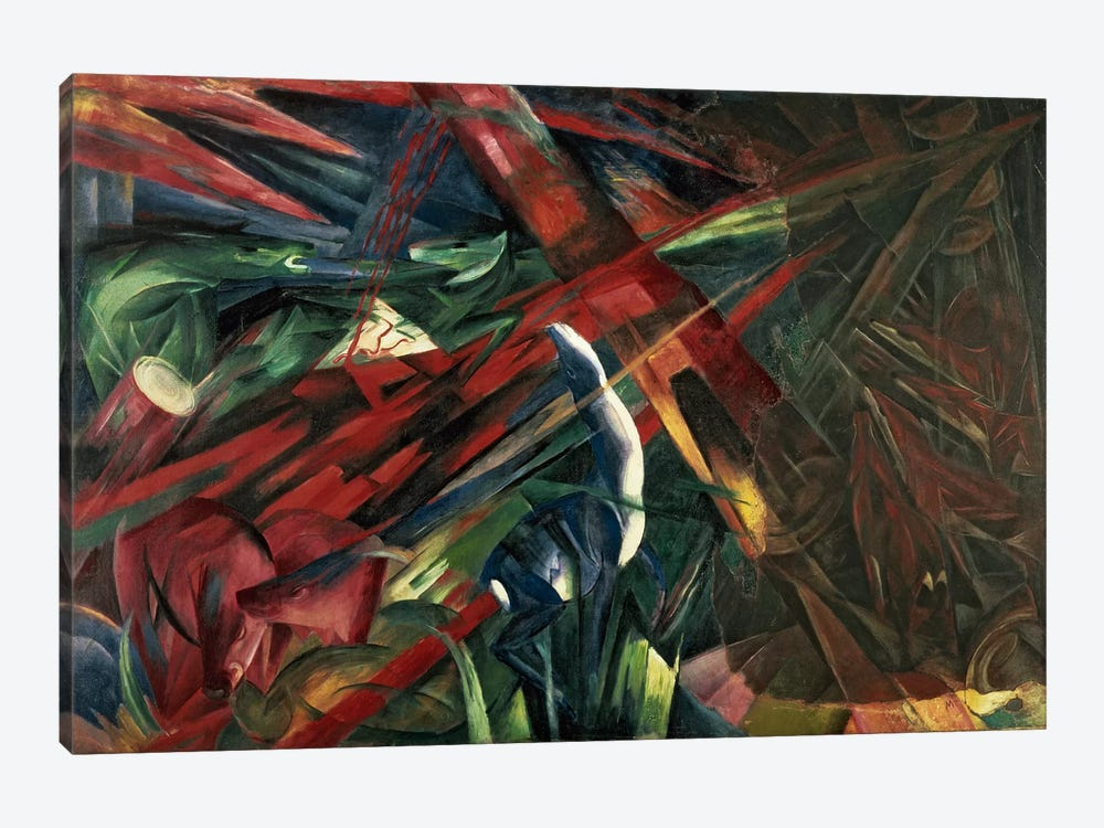 Fate of the Animals, 1913 by Franz Marc 1-piece Canvas Artwork
