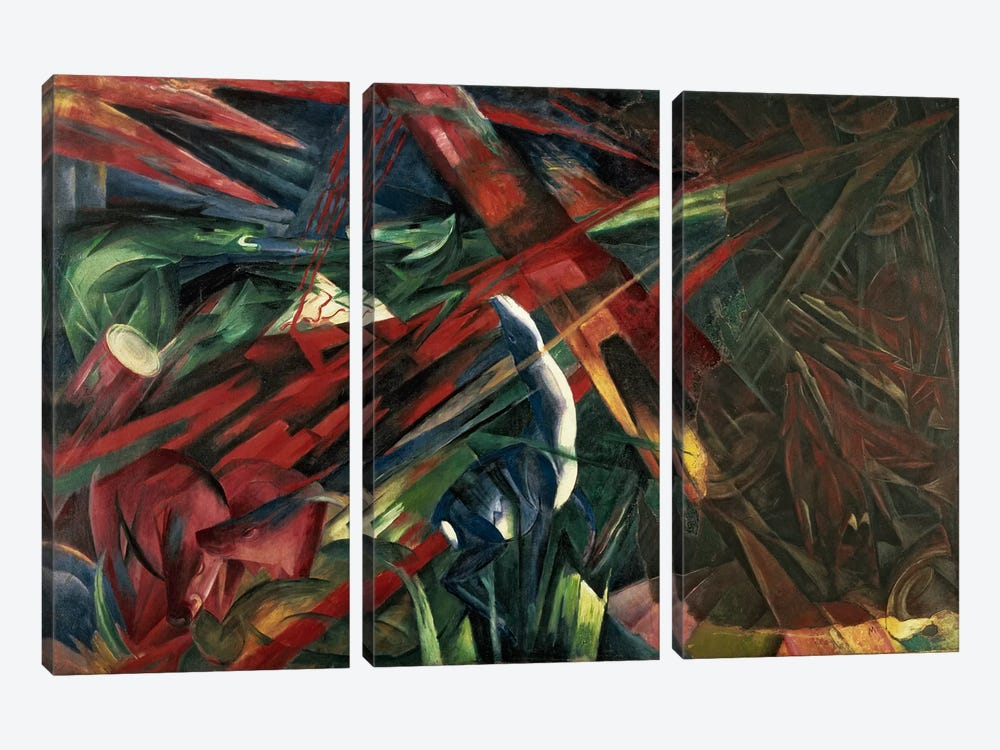 Fate of the Animals, 1913 by Franz Marc 3-piece Canvas Artwork