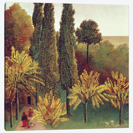 Path In The Buttes Chaumont Park, Paris, 1908 Canvas Print #BMN6300} by Henri Rousseau Canvas Artwork