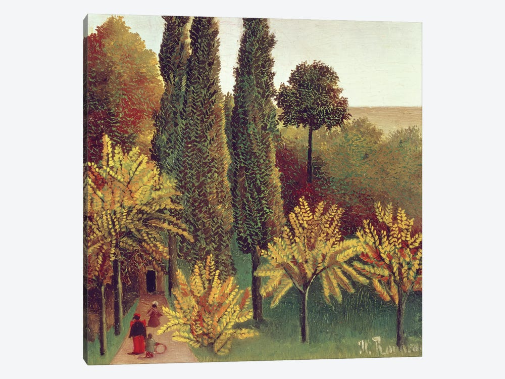 Path In The Buttes Chaumont Park, Paris, 1908 by Henri Rousseau 1-piece Art Print
