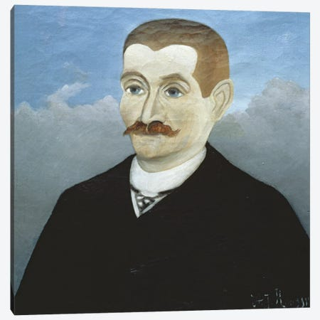 Portrait Of A Red-Haired Man 3-Piece Canvas #BMN6301} by Henri Rousseau Canvas Artwork