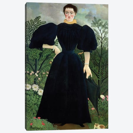 Portrait Of A Woman, c.1895-97 Canvas Print #BMN6302} by Henri Rousseau Canvas Art