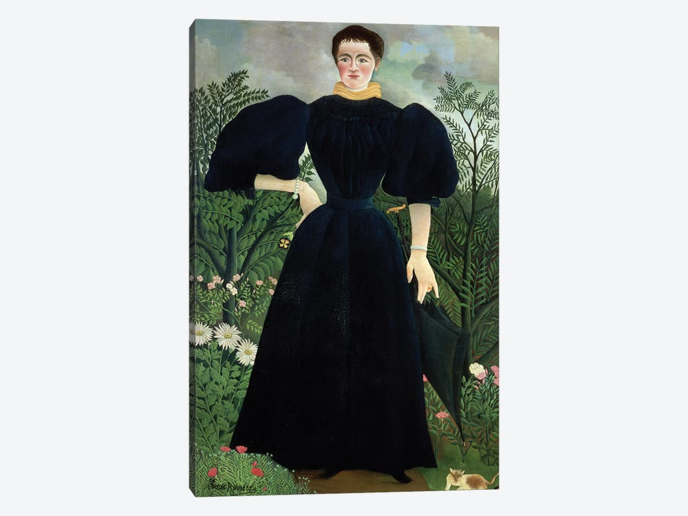 Portrait Of A Woman, c.1895-97 by Henri Rousseau 1-piece Canvas Print