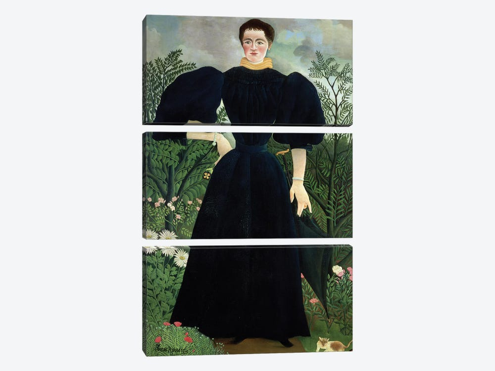 Portrait Of A Woman, c.1895-97 by Henri Rousseau 3-piece Art Print